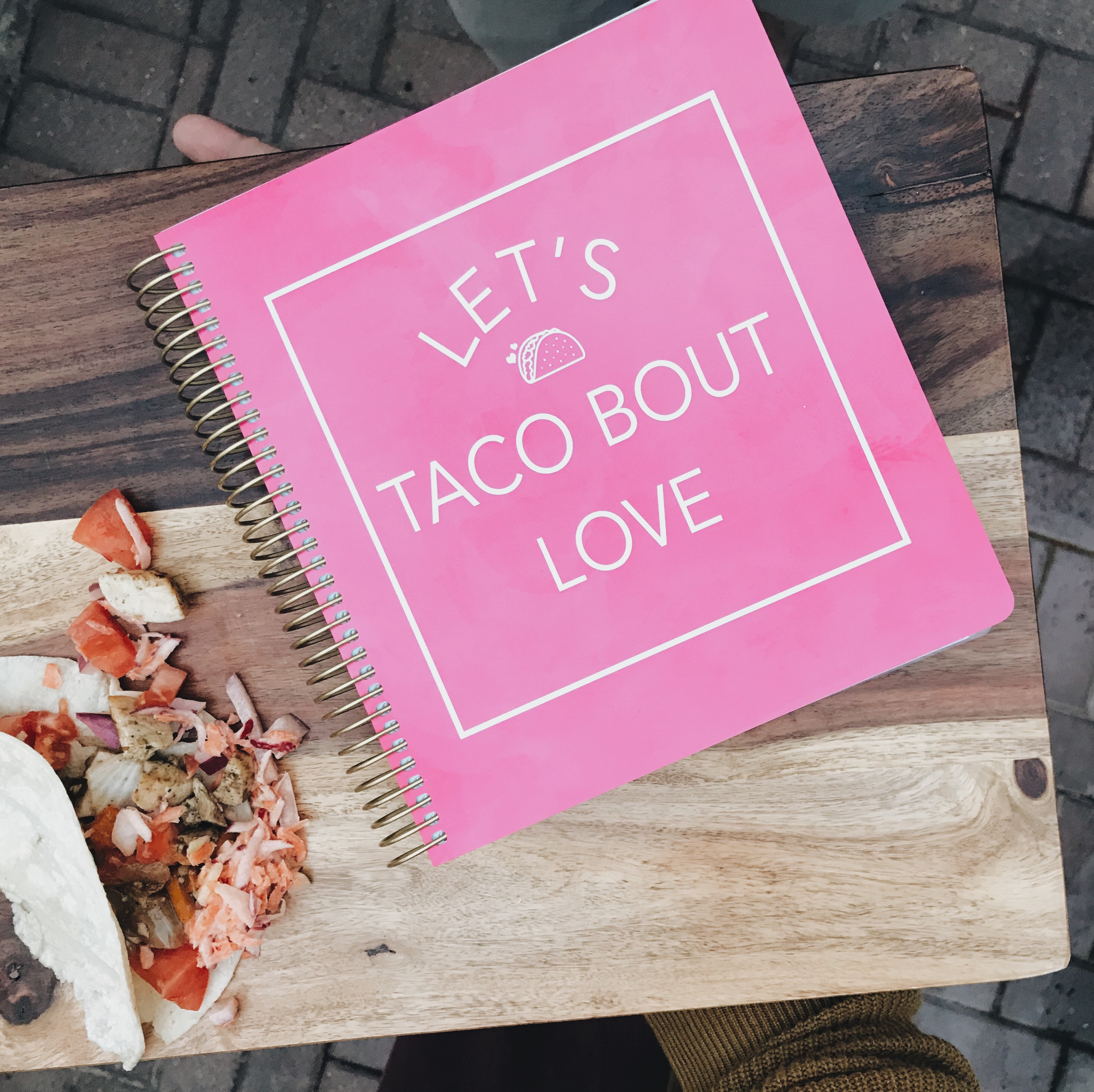 Let's Taco Bout Love Planner Cover