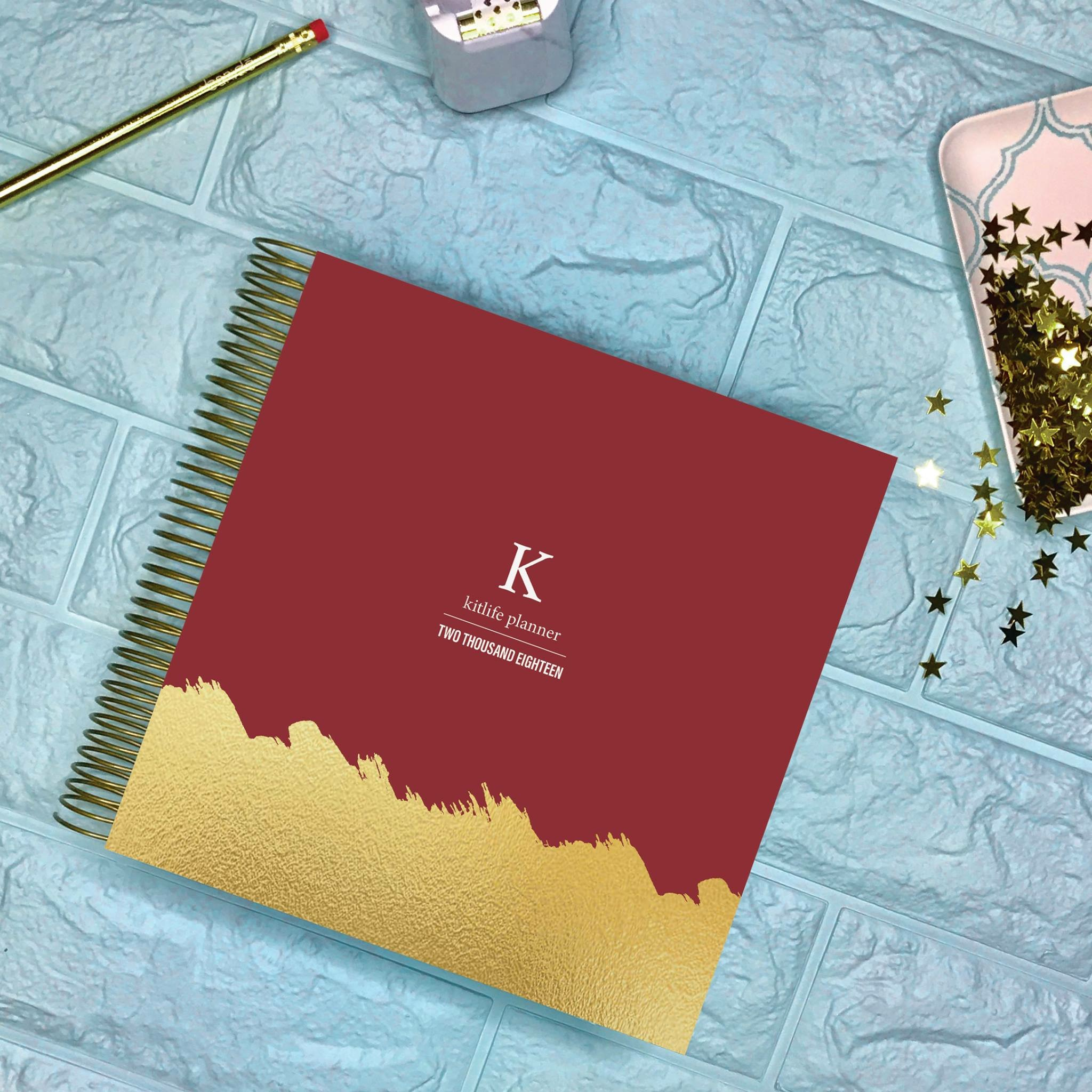 kitlife 2018 custom planner cover - college